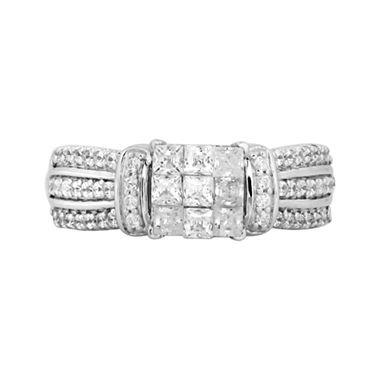 weeks ago 1 ct t w princess diamond engagement ring white