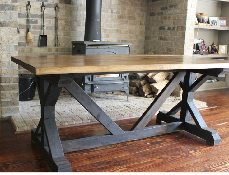 Handcrafted rustic fancy xfarmhouse dining by for Fancy dining table