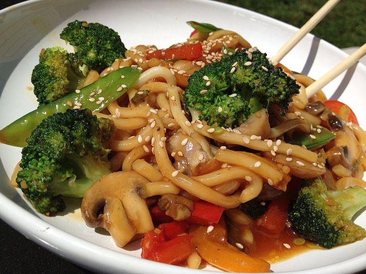 Sesame Udon Noodles Recipe — Dishmaps
