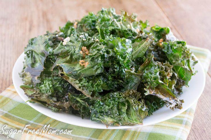 Baked Parmesan Kale Chips | Sugar-Free Mom