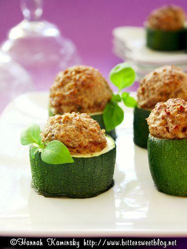Stuffed Zucchini Bites by Bitter-Sweet | Vegetarian & Vegan Recipes ...