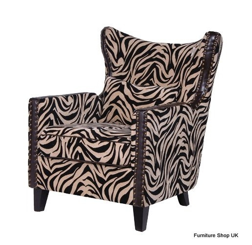 Coach House Zebra Print Wing Chair For The Home Pinterest