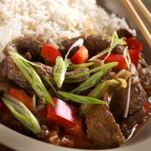 Spicy Beef with Bell Peppers