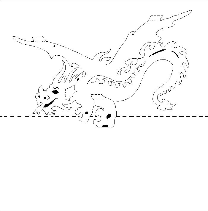 dragon-pattern.gif (701u00d7709) : kirigami : Pinterest