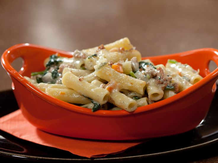 Baked Ziti with Spinach and Veal from FoodNetwork.com Substitutions I ...