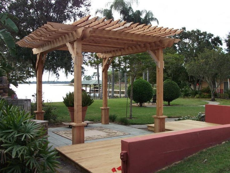 backyard ideas with a pergola cool ideas pinterest