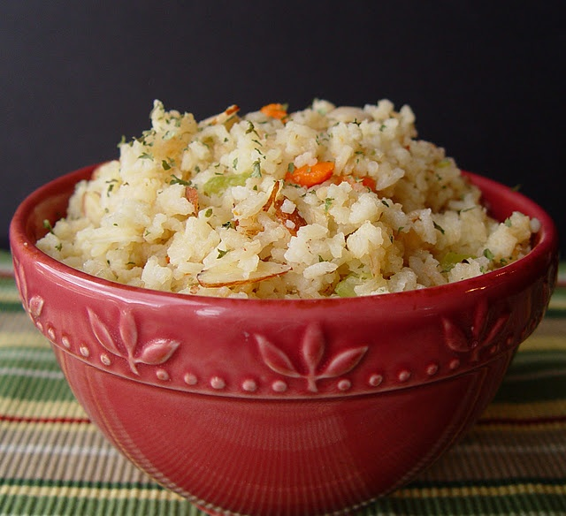 Rice Pilaf with almonds | sides | Pinterest
