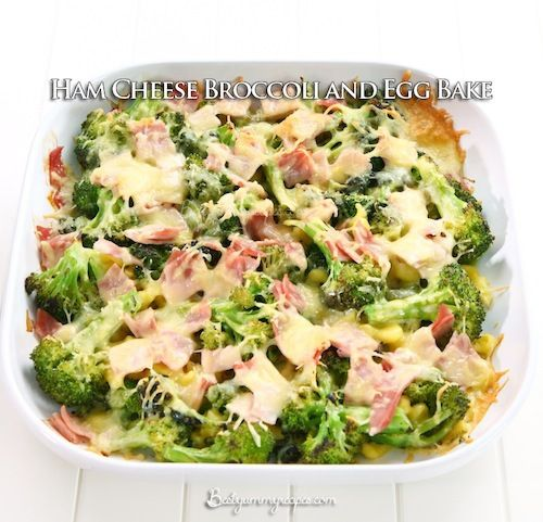 Ham Cheese Broccoli and Egg Bake | Recipes | Pinterest