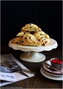 cranberry amp almond scones fit fun amp delish