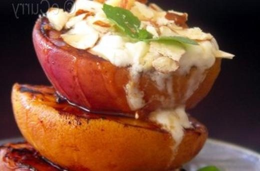 yogurt anjali pathak s roast peaches and honey grilled peaches grilled ...