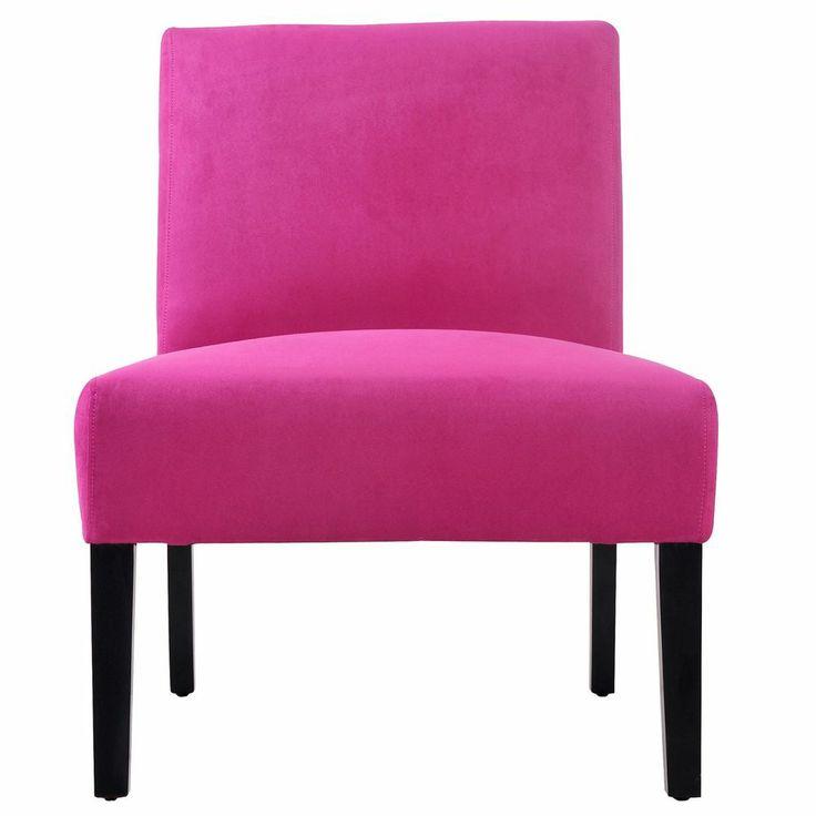 Vibrant Hot Pink Modern Sleek Slipper Accent Chair Living Room Office
