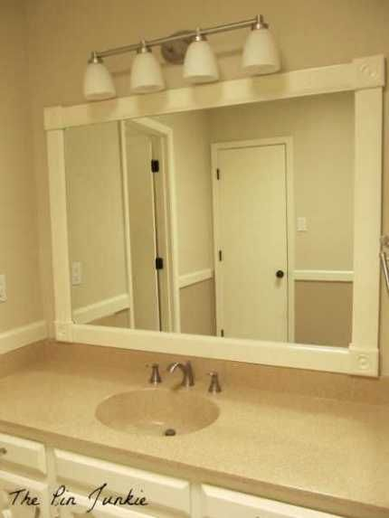 Framed bathroom mirror redecorating ideas pinterest for Redecorating a small bathroom