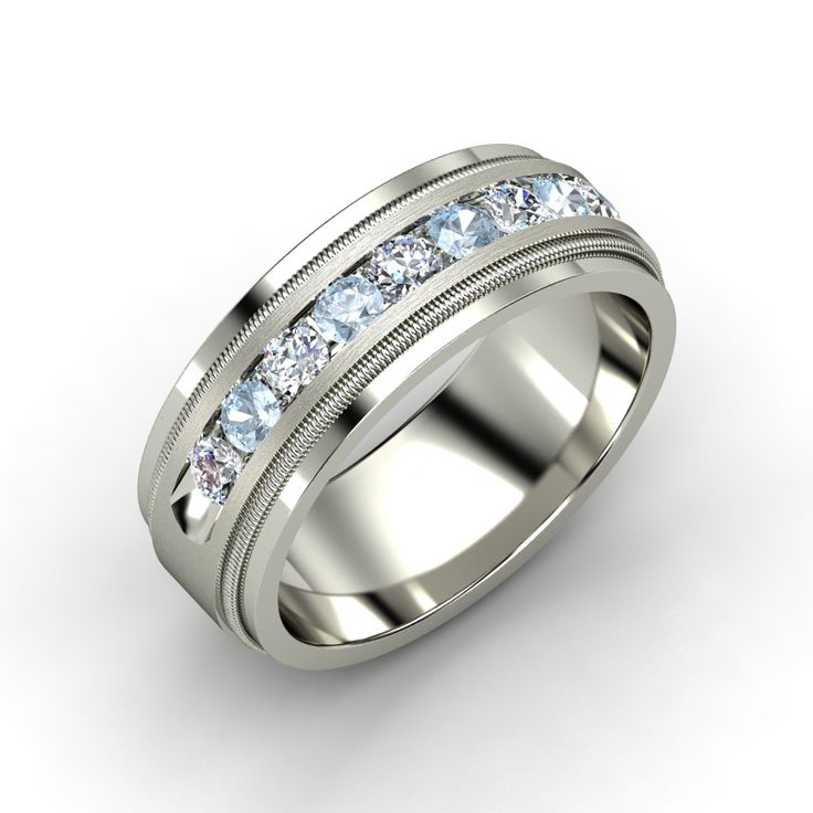 images of A MAN'S WEDDING BAND | Mens-Wedding-Bands-Aquamarine.png