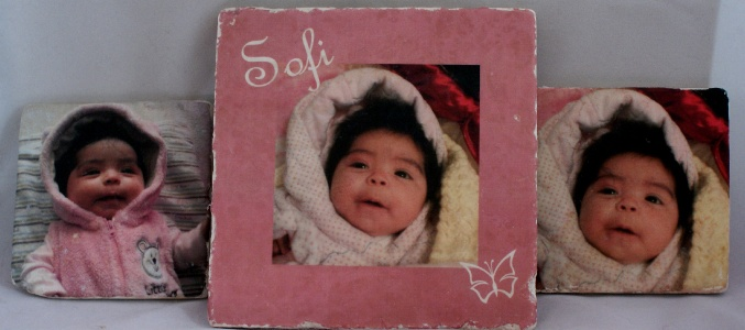 Photo tiles, great gifts for new parents and grandparents.