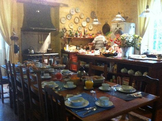 Kitchen at La Tour de Cause B&B