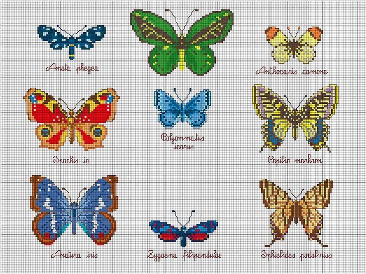 Вышивка крестом с бабочками 5