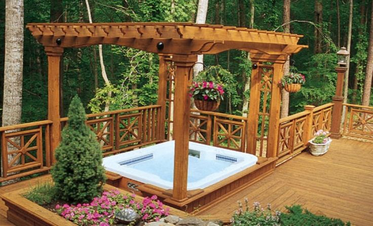Love The Railing And The Pagoda Outdoor Ideas Pinterest