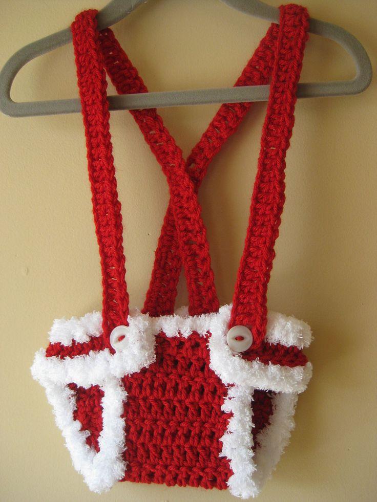 Crochet Diaper Cover : Crochet Diaper Cover Christmas Santa Elf Xmas by LocustTree. Until my ...