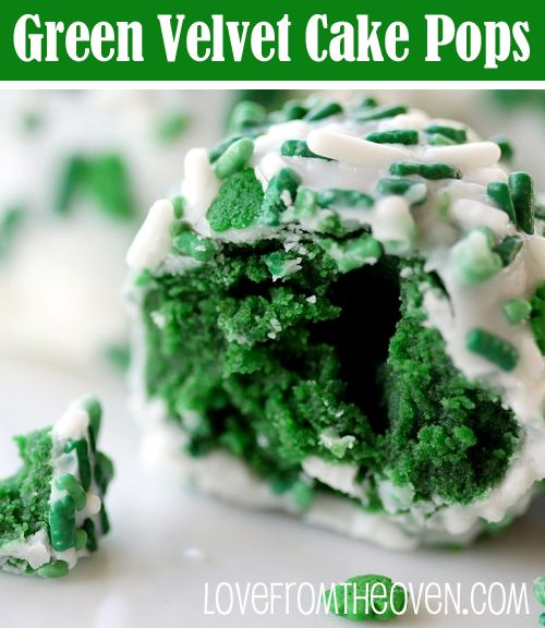 Green Velvet Cake Pop Balls at Love From The Oven
