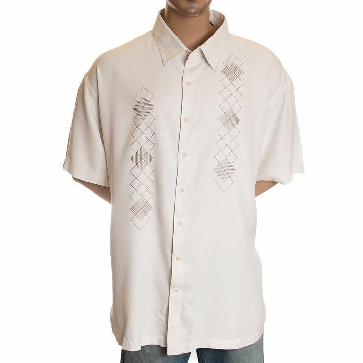 4xl nat nast diamond embroidered shirt 100 silk white for Diamond and silk t shirts