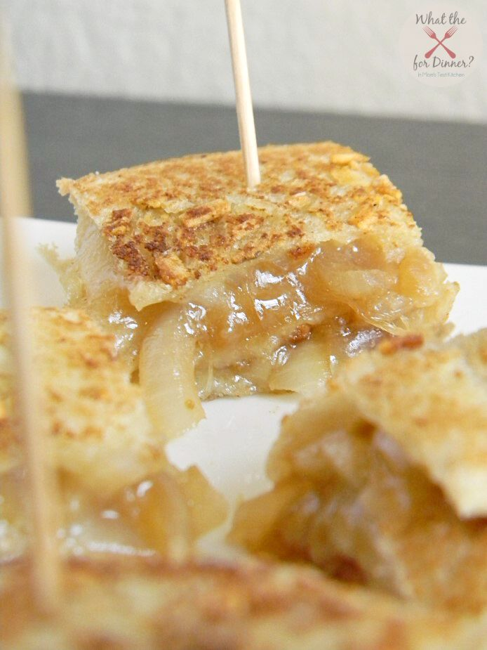 French Onion Grilled Cheese Stackers ~ buttery, hot, cheesy sandwich ...