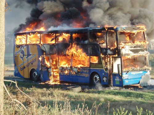 The bus didn't really blow up.