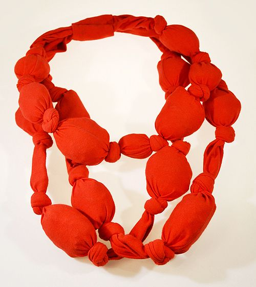 Lucilla Giovanninetti Necklace: Baloo, 2001 Cotton 38 x 28 x 6 cm