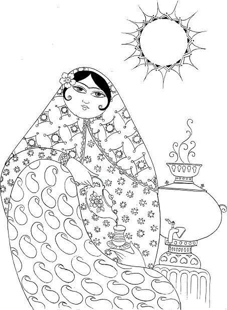 آموزش تابلو ویترای طرح خاتون هنری