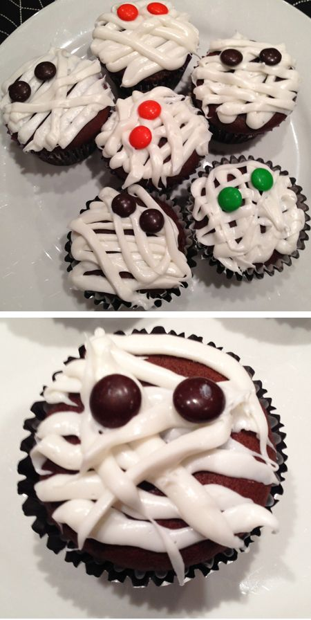 Mummy Cupcakes | Halloween Ideas | Pinterest