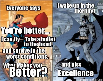 why batman is better than superman essay