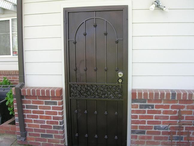 Security screen doors iron door