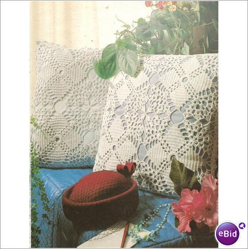 Crochet Patterns Nz : Crochet Pillow Pattern Four Square Pillowtop on eBid New Zealand
