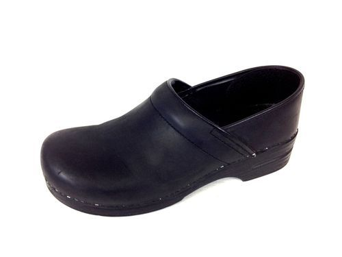 dansko shoes leather black comfort slip on nursing mens