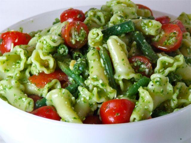 Lemony Pesto Pasta With Edamame & Almonds Recipes — Dishmaps