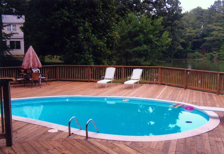 Hardwood Swimming Pool Decking Pools Pinterest