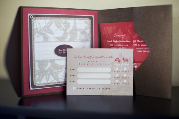 all-in-one----Large wedding invitation with RSVP card - photo by Melissa Jill Photography