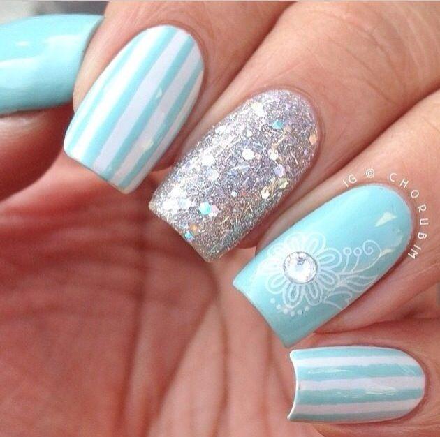 Light Nail Designs: Light Blue Nail Art