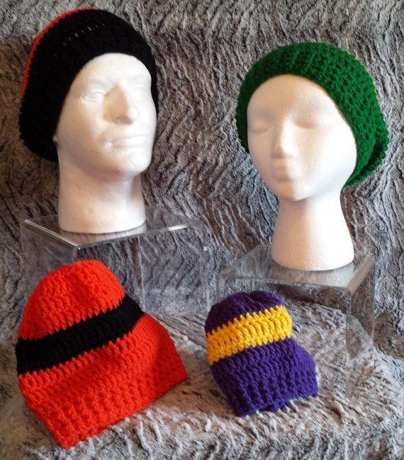 Custom team spirit slouchy hat crochet by frommmetoyou on etsy