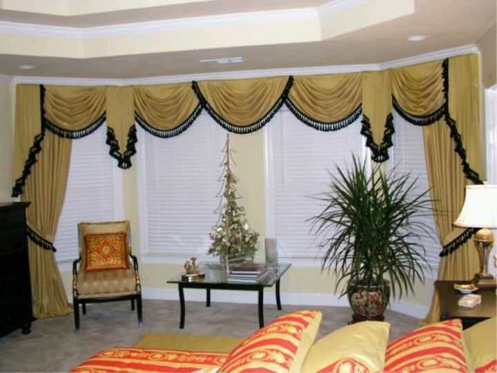 Swags/Jabots/Sidehangings | Drapes ~ window treatments | Pinterest