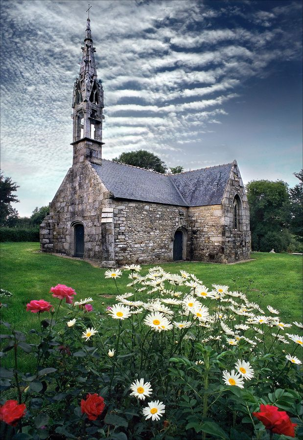 "500px / Photo ""A small church in Brittany"""
