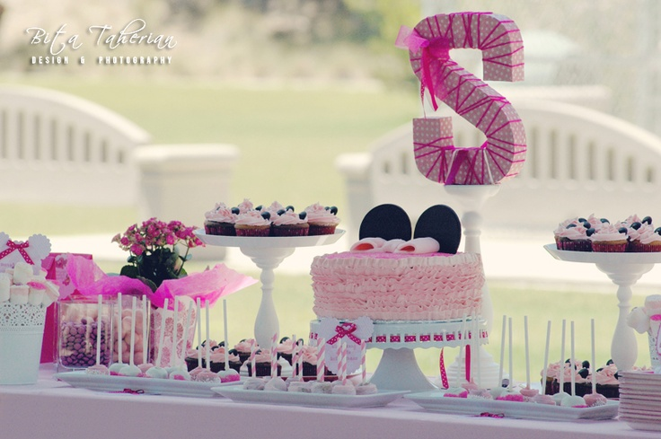 Baby minnie mouse 1st birthday organic homemade custom for Table design for 1st birthday