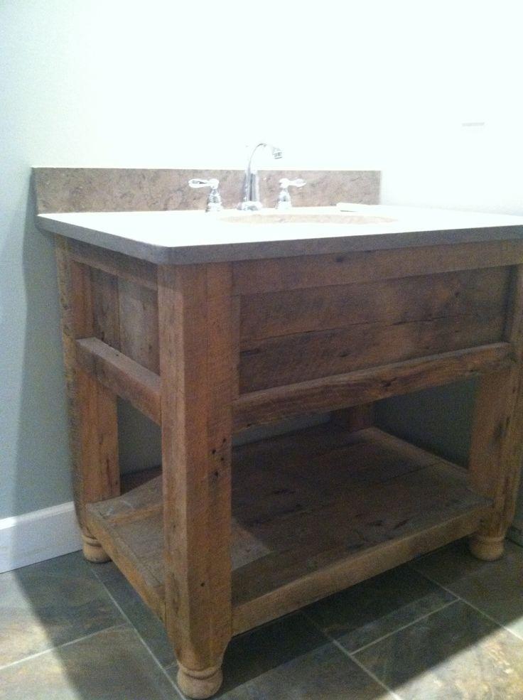 Amazing  Wood Bathroom Vanity  Reclaimed Wood Bathroom Vanity And Wood