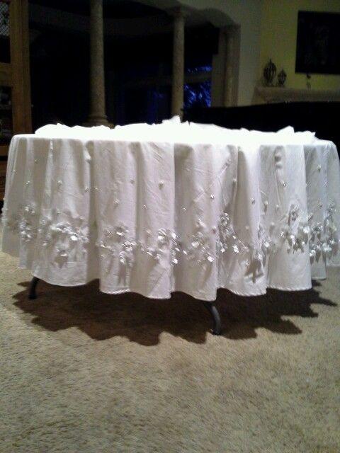 Tablecloth For Cake Table Wedding Ideas Pinterest
