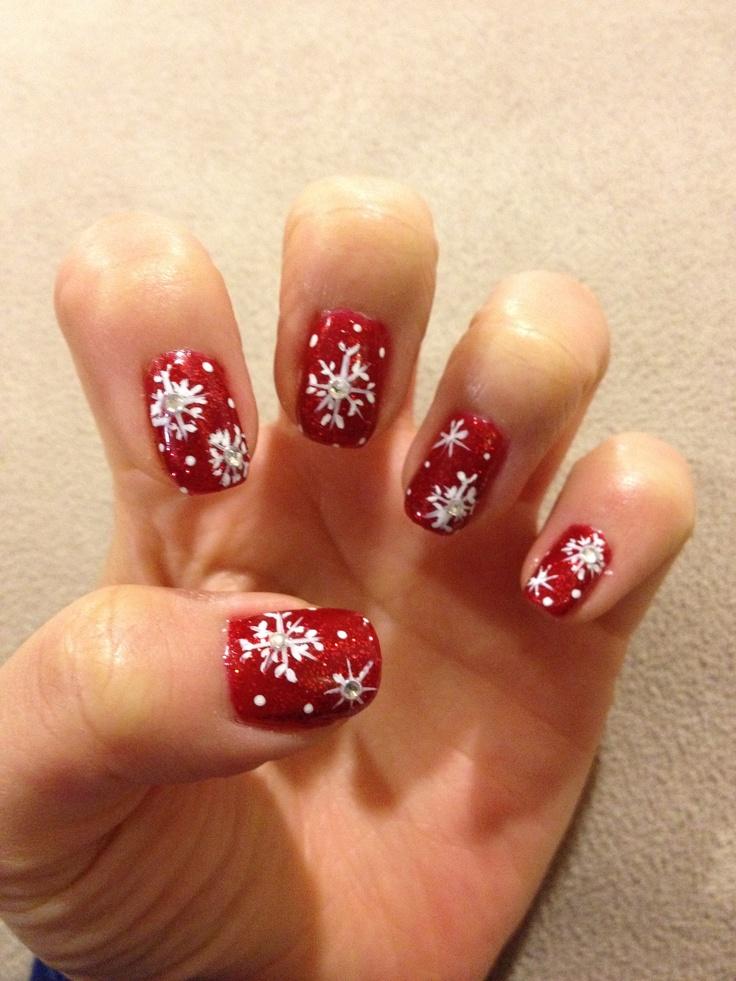 Christmas Snowflake | manicure ideas | Pinterest