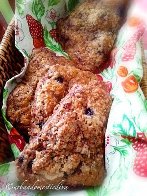 Savoring Sweet: Lavender Scented Berry, Coconut and Pecan Scones