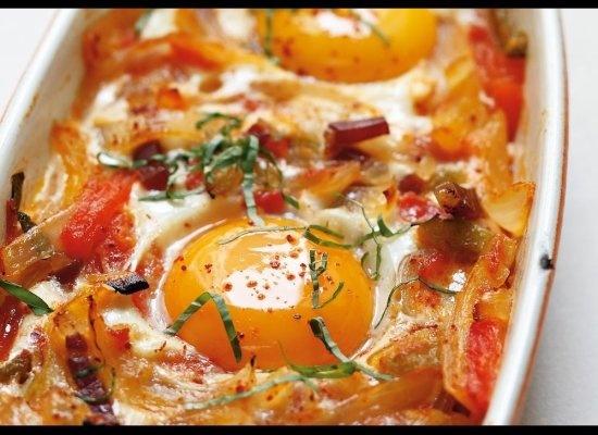 Basque Style Baked Eggs - Alain Ducasse (brunch)