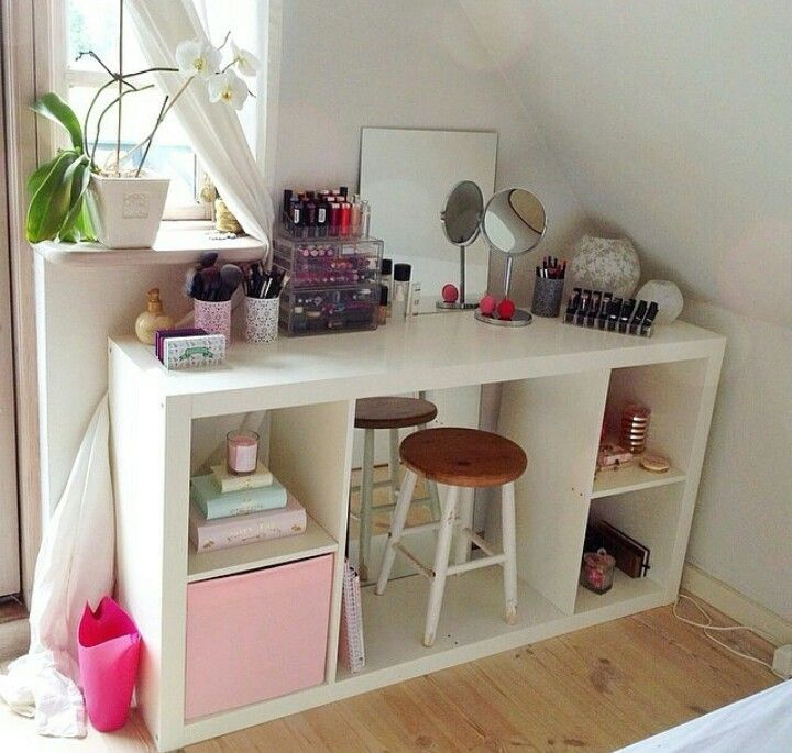 Ikea Bookcase As A Vanity Adore Decor Pinterest