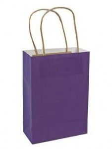Purple Medium Birthday Party Gift Bags with Handles.