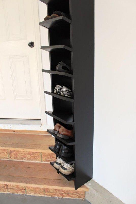 shoe rack ideas custom furniture built ins pinterest. Black Bedroom Furniture Sets. Home Design Ideas