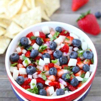 Blueberry, strawberry & Jicama Salsa | Get In My Belly!! | Pinterest